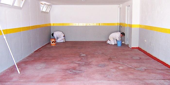 Pintura para garajes materiales de construcci n para la - Pintura para suelos ...